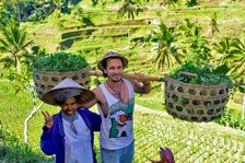 Backpacker mit Balinese